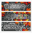 back to school education season banners vector image vector image