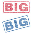 big textile stamps vector image vector image