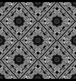 black and white greek geometric seamless pattern vector image