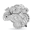 Black and white hand drawn ornament vector image