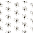 black seamless pattern with drawn lilies vector image vector image