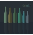 Bottles Icons Flat Design vector image vector image