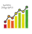 business infographic freehand drawing vector image vector image