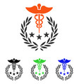 caduceus logo flat icon vector image