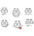 Cartoon emotions faces vector image