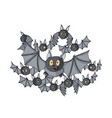 cartoon halloween crowd different vector image vector image