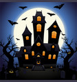 castle of horrors for halloween vector image vector image