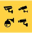 cctv camera icon security video sign vector image