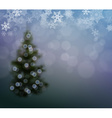 Christmas Background with a Christmas Tree and vector image vector image