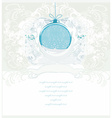 Christmas Framework style with bauble card vector image vector image