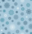 Christmas seamless pattern from red andblue vector image vector image