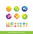 Circle sphere logo icon set vector image