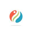 circle swirl ecology logo vector image vector image