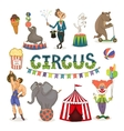 circus funfair and fairground icon set vector image vector image