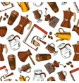 Coffee makers seamless pattern background vector image