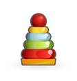 color pyramid early baeducational toy cartoon vector image vector image