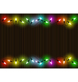 Colorful Christmas Lights Background vector image vector image