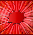 comic explosive red concept vector image vector image