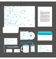 Corporate identity template design stationery vector image vector image