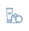 cosmetic creams line icon concept cosmetic creams vector image vector image