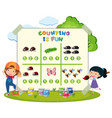 counting is fun games vector image vector image