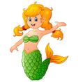 Cute mermaid cartoon vector image vector image