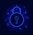 cyber security and data privacy protection vector image vector image