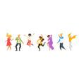dancing people silhouette vector image vector image