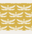 dragonfly seamless pattern vintage retro vector image vector image