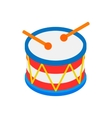 Drum of Independence Day isometric 3d icon vector image vector image