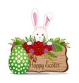easter design easter bunny with easter egg vector image vector image