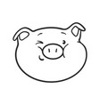 emoji pig for coloring book emoticon icon vector image