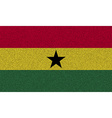 Flags Ghana on denim texture vector image vector image