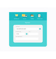 flat checkout design vector image vector image