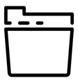 folder icon outline style vector image
