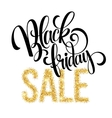 Golden Black Friday sale lettering background vector image vector image