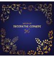 Golden decorative floral corners vector image vector image