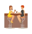 Happy Best Friends Catching Up In bar Part Of vector image vector image
