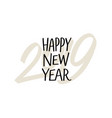 happy new year 2019 chinese year pig vector image vector image