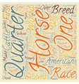 Horse Breeds American Quarter Horse text vector image vector image