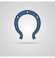 horseshoe icon vector image vector image