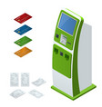 isometric set online payment systems and vector image
