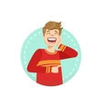 Laughing Emotion Body Language vector image vector image