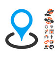 location icon with valentine bonus vector image vector image