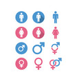 male female icon graphic design template vector image vector image
