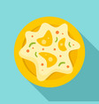 mexican fried egg icon flat style vector image vector image
