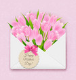 mothers day retro card vector image vector image