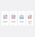 pastry shop bakery cafe food products ux ui vector image