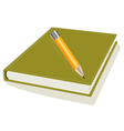 Pencil and note pad vector image vector image