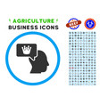 Person dream crown rounded icon with set vector image